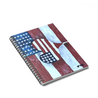 Spiral Notebook - Ruled Line American Flag Love by EFK