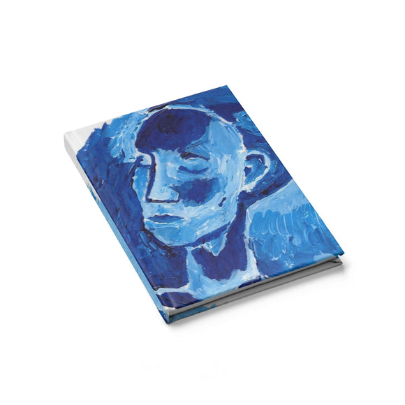 Blue Girl - Small Sketchbook, Journal, Travel Journal, Gratitude Journal