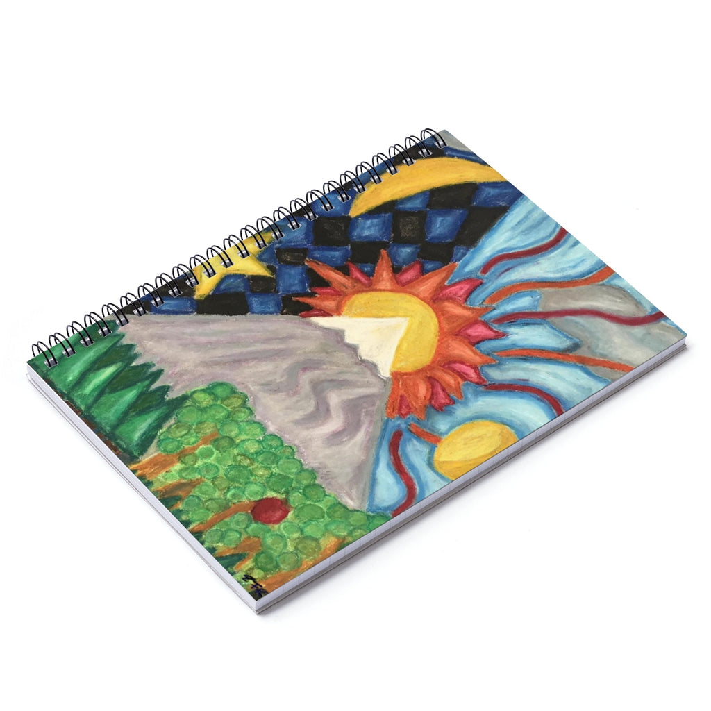 Beautiful World - Lil Spiral Notebook - Ruled Line - EF Kelly