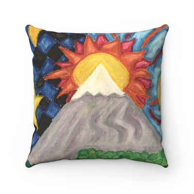 Beautiful World - Spun Polyester Square Pillow - EF Kelly
