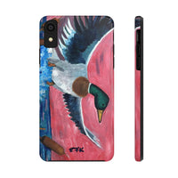 Phone Case, iPhone Case, iPhone 7 Case, iPhone 8 Case, iPhone 11 Mallard Duck Taking Flight