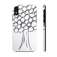 Phone Case, iPhone Case, iPhone 7 Case, iPhone 8 Case, iPhone 11 of Black and White Tree
