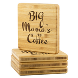 Big Mama's Coffee Etched Bamboo Coasters