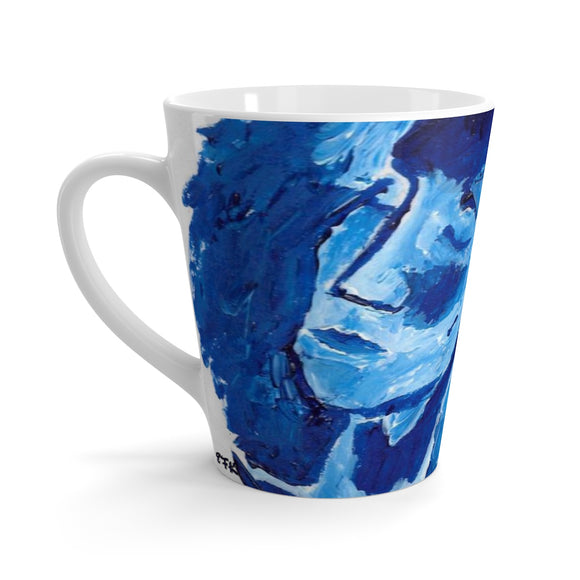 Blue Girl - Latte Mug - EF Kelly
