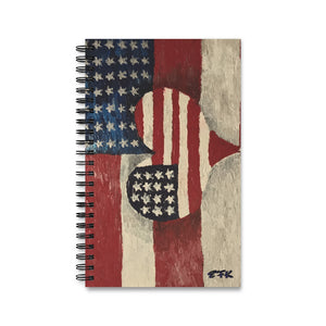 American Flag Spiral Notebook (EU)