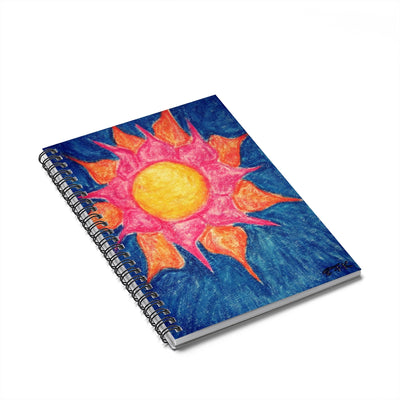 Sun Shiny Day - Lil Spiral Notebook - Ruled Line - EF Kelly