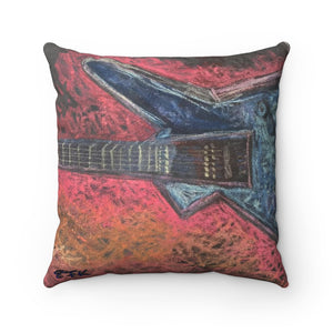 Rock This - Spun Polyester Square Pillow - EF Kelly Design
