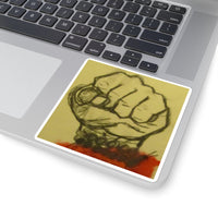 Fight - Square Stickers - EF Kelly