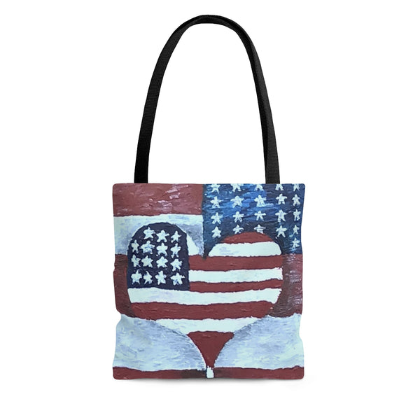 Tote Bag, Beach Bag, Bag, Grocery Bag, School Tote, Teacher Bag of American Love by EFK