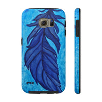 Boho Feather Tough Phone Case, Feather Phone Case, Boho Feather