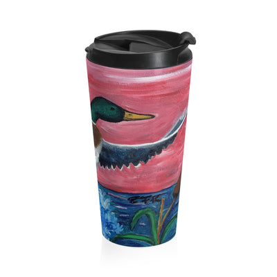 Mallard Duck Stainless Steel Travel Mug