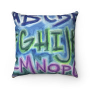 Square Pillow, Throw Pillow, Kids Pillow, Reading Pillow of ABZ by EF Kelly Design
