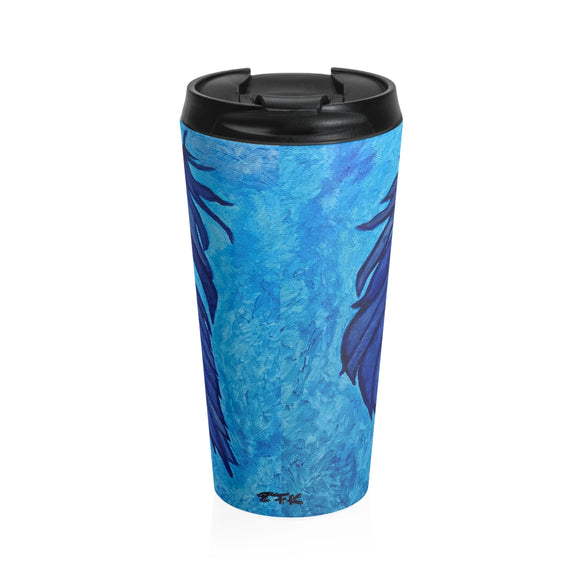 Boho Feather Stainless Steel Travel Mug