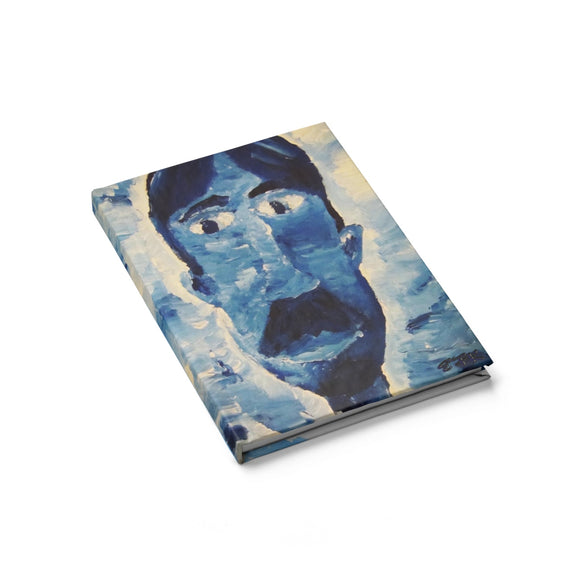 Blue Man & Girl - Small Sketchbook, Journal, Travel Journal