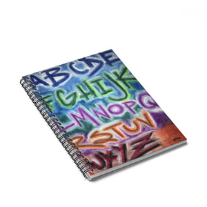 ABZ - Lil Spiral Notebook - Ruled Line - EF Kelly Design