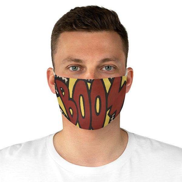 BOOM Fabric Face Mask, Comic Themed Face Mask