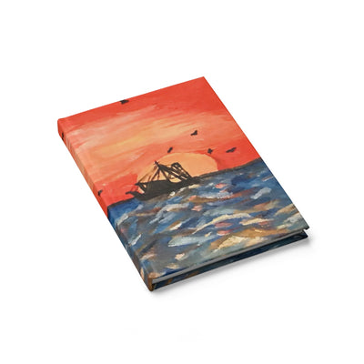 Fishing Boat on a Sunset Sea Sketchbook