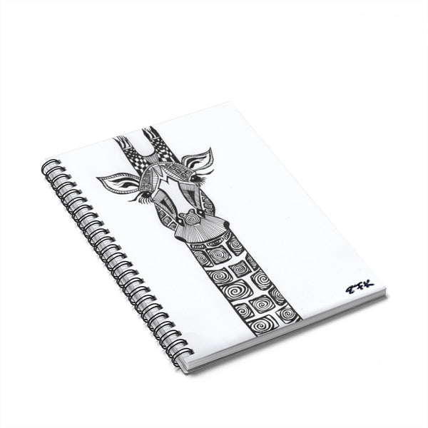 BW Giraffe - Lil' Spiral Notebook - Ruled Line