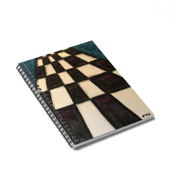 Checkerboard - Lil' Spiral Notebook - Ruled Line