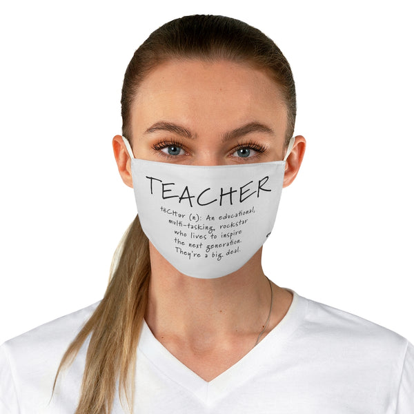 Teacher Fabric Face Mask