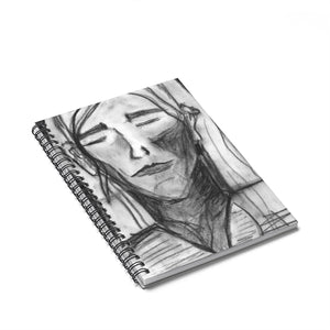 Charcoal Girl - Lil' Spiral Notebook - Ruled Line - EF Kelly