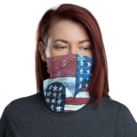 American Flag Love, Face Mask, Face Shield, Headband, Bandana, Neck gaiter