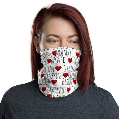 Grateful Thankful Blessed Face Mask, Neck gaiter
