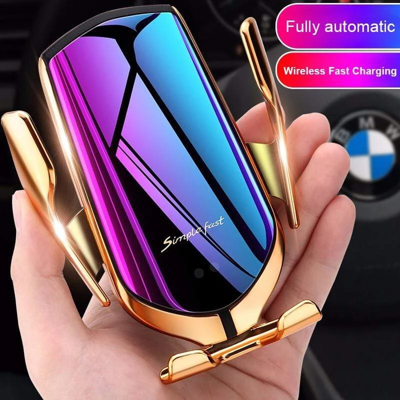 Smart Sensor Car Mount 360 Degree Rotation QI Wireless Charger Best Wireless Car Charger