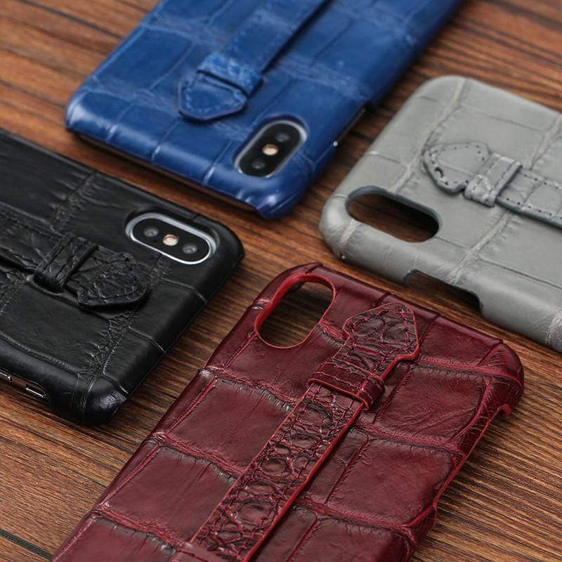 Genuine Crocodile Leather case For iPhone