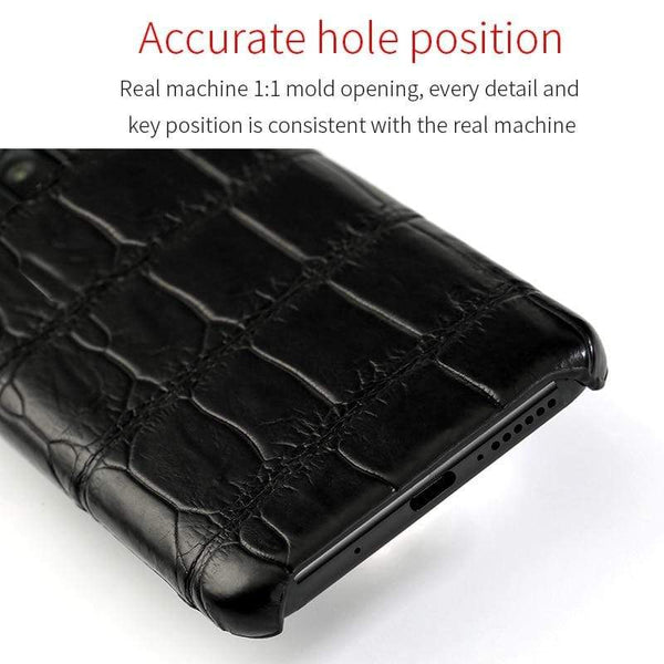 100% Genuine Crocodile Leather Case For Xiaomi - PhonesFashions