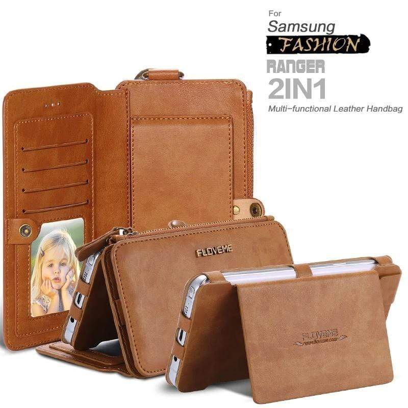 4 IN 1 LUXURY LEATHER CASE For Samsung - PHONES FASHIONS
