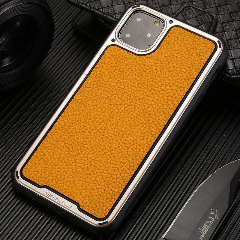 Airbag Cushioning Genuine Leather Soft Case For iPhone 11 - PHONES FASHIONS
