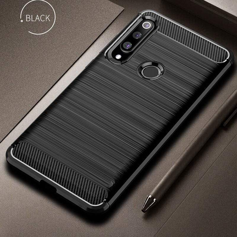 Huawei P30 Carbon fiber Shockproof Cover - PHONES FASHIONS