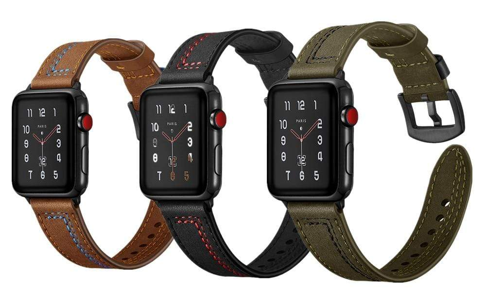 Classic Genuine Leather Strap For Apple Watch - PHONES FASHIONS