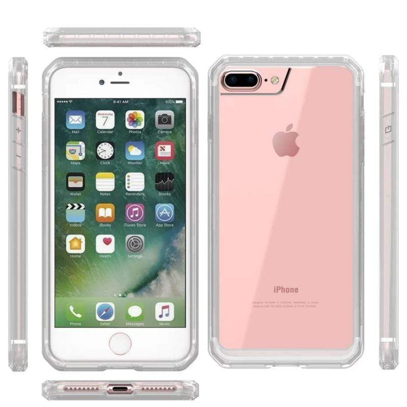 Clear Panel Slim Cover For iPhone - PhonesFashions