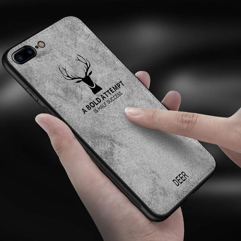 Cloth Deer Texture Case For iPhone - PhonesFashions