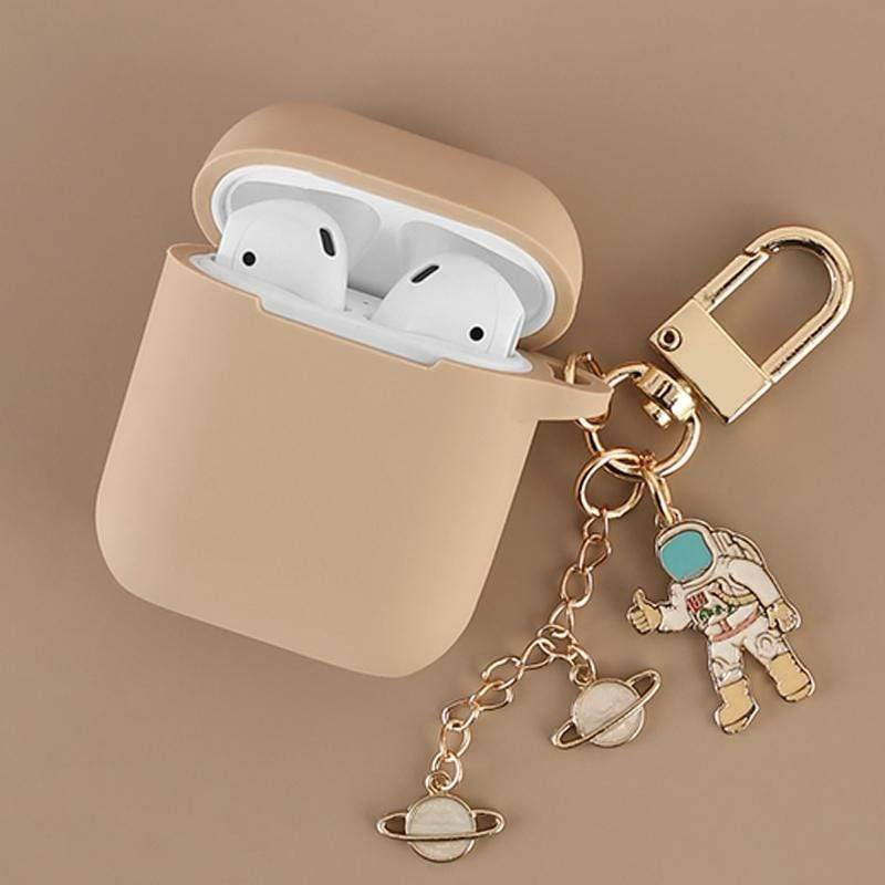 Cosmic Astronaut AirPods Case with Keychain - PHONES FASHIONS