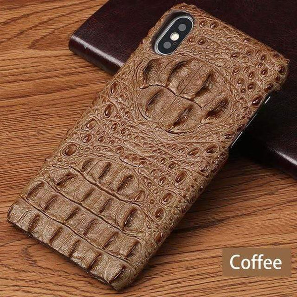 Crocodile Leather Pattern Case for iPhone - PhonesFashions