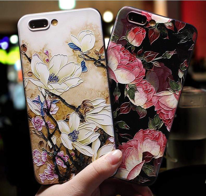 3D Emboss Patterned Phone Case For iPhone - PHONES FASHIONS