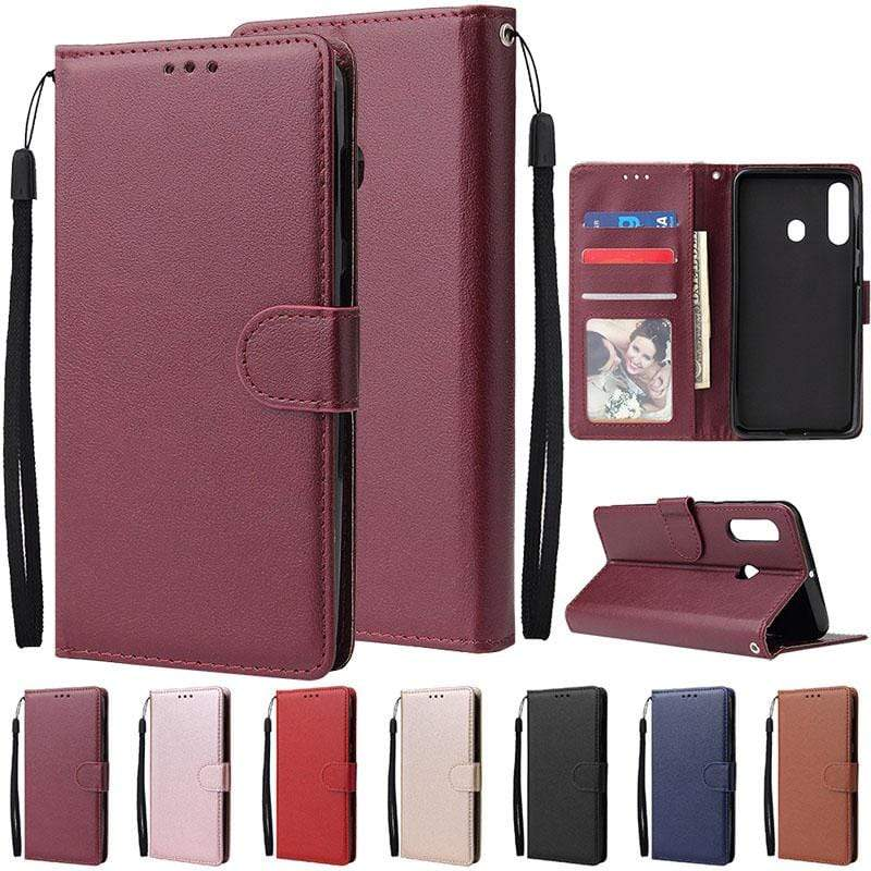 Flip Leather Wallet Case For Samsung Galaxy - PhonesFashions