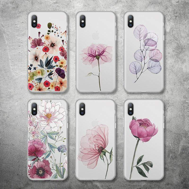 Flower pattern Silicone Case For iPhone - PhonesFashions