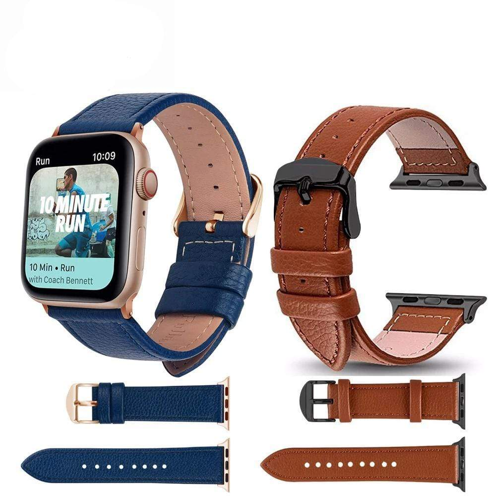 Genuine Cow Leather bands for Apple Watch - PHONES FASHIONS
