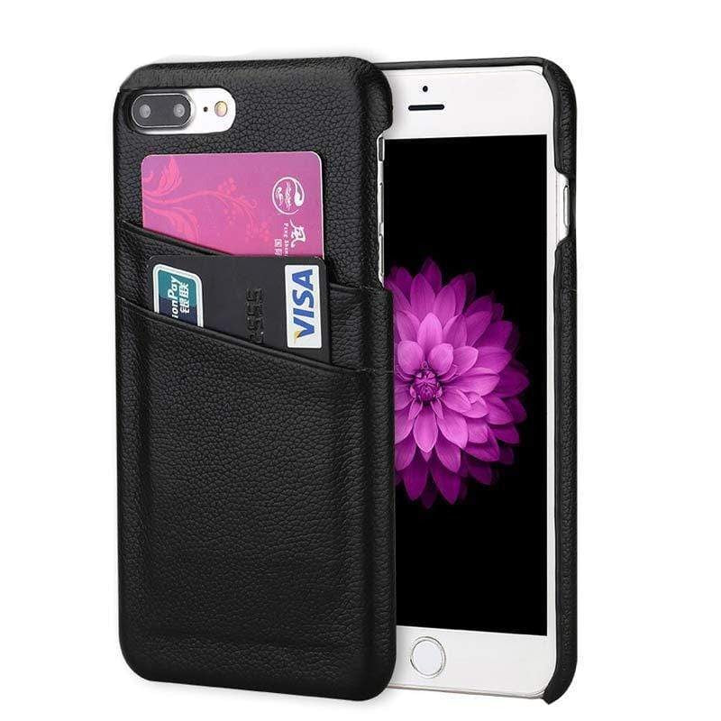 leather card slot holder cover case for iphone-PhonesFashions