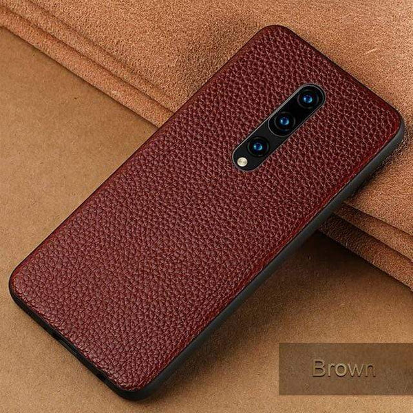 Genuine Cowhide Leather Case For OnePlus - PhonesFashions