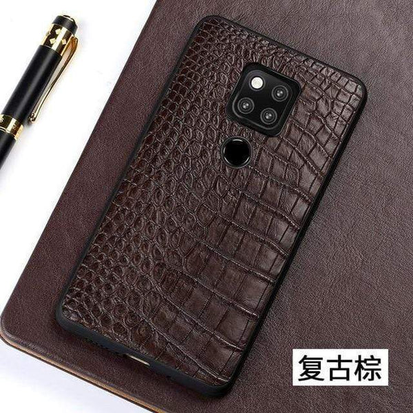 Genuine Crocodile Leather Phone case for Huawei - PHONES FASHIONS