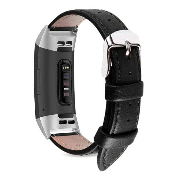 Genuine Leather band for Fitbit Charge 3 - PHONES FASHIONS