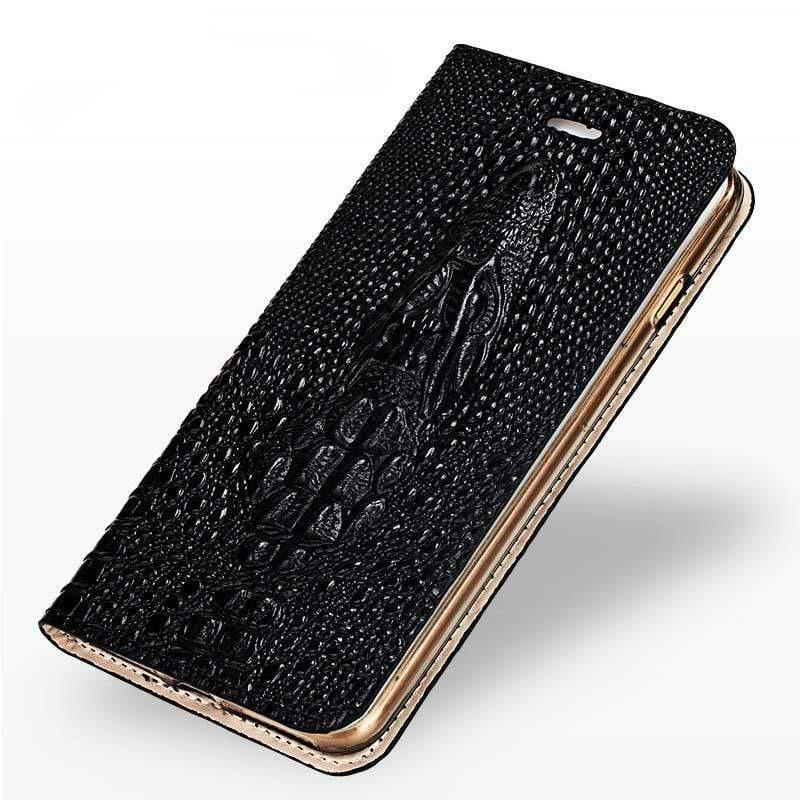 Genuine Leather Holster Flip Wallet case for Xiaomi - PhonesFashions