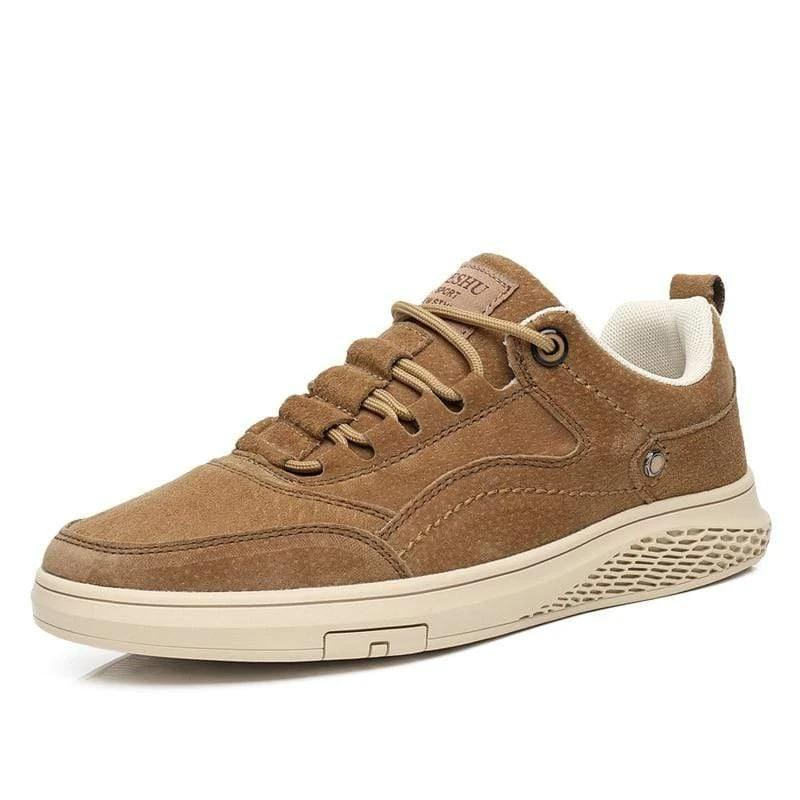 Genuine Leather Men's Casual Canvas shoes - PHONES FASHIONS