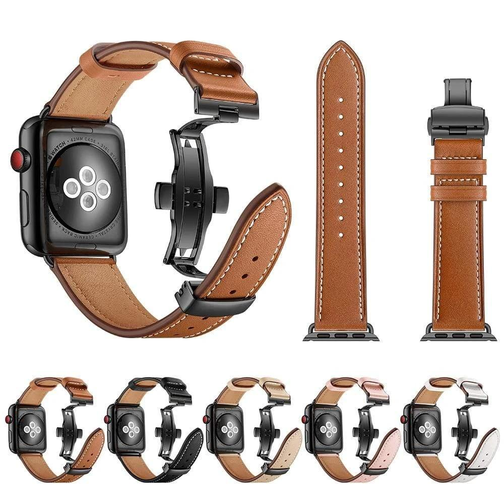 Genuine Leather strap For Apple watch - PhonesFashions