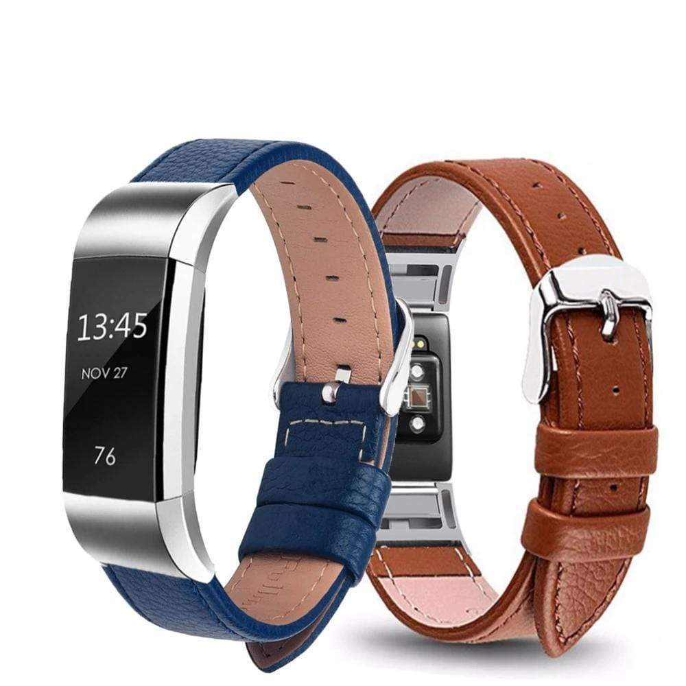 Genuine Leather Strap for Fitbit Charge 2 - PHONES FASHIONS